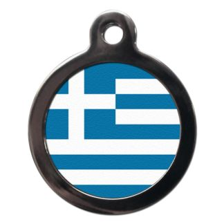 Greek Flag FL15 Dog ID Tag