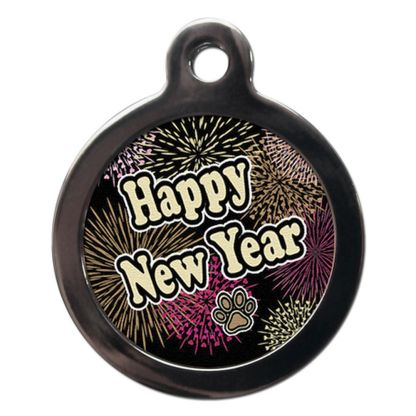Happy New Year FE30 Festive New Year Dog ID Tag
