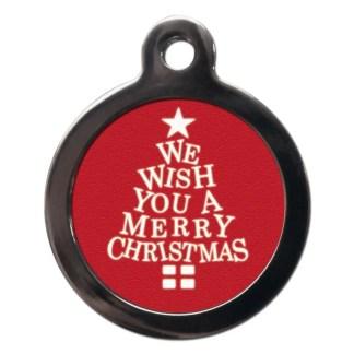 Merry Christmas FE15 Festive Christmas Dog ID Tag
