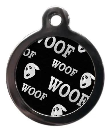 Woof PA19 Pattern Dog ID Tag