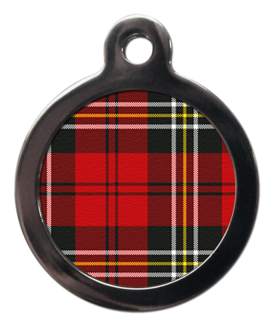 Red Tartan PA20 Pattern Dog ID Tag
