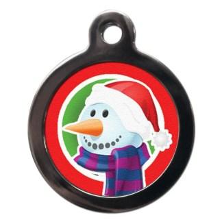 Snowman FE20 Festive Christmas Dog ID Tag