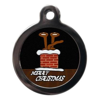 Stuck in Chimney FE1 Festive Christmas Dog ID Tag