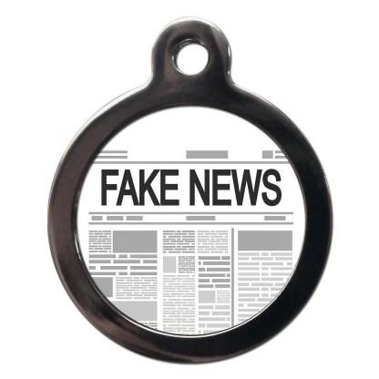 Fake News CO97 Comic Dog ID Tag
