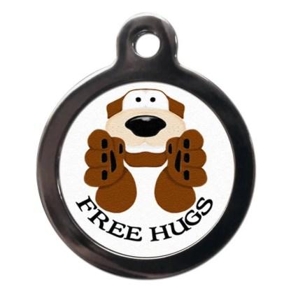 Free Hugs CO9 Comic Dog ID Tag