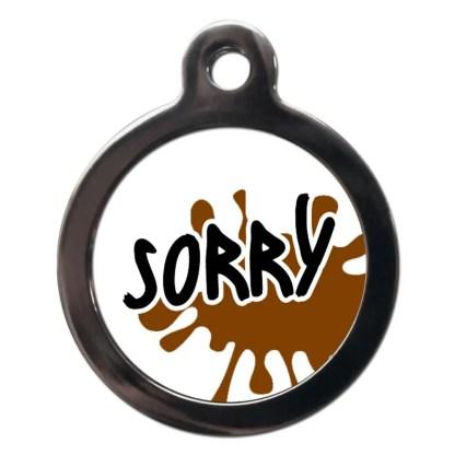 Sorry CO83 Comic Dog ID Tag