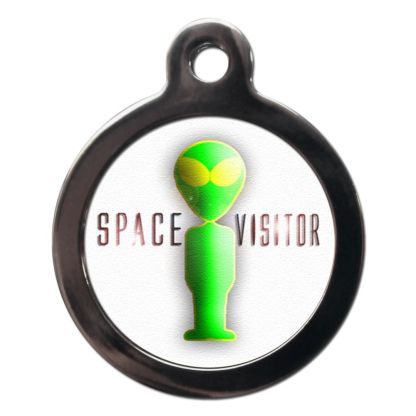 Space Visitor CO21 Comic Dog ID Tag