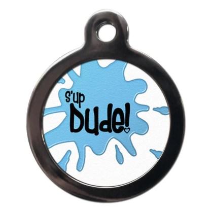 S'Up Dude CO71 Comic Dog ID Tag