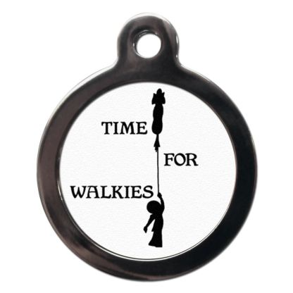 Time for Walkies CO14 Comic Dog ID Tag