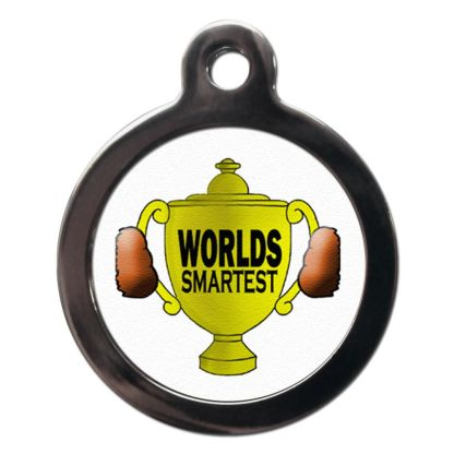 World's Smartest CO35 Comic Dog ID Tag