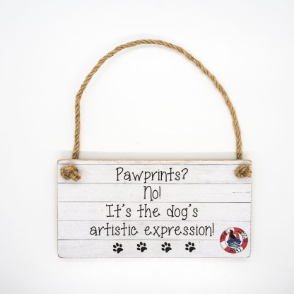 Pawprints? No! Wall Plaque DBP12
