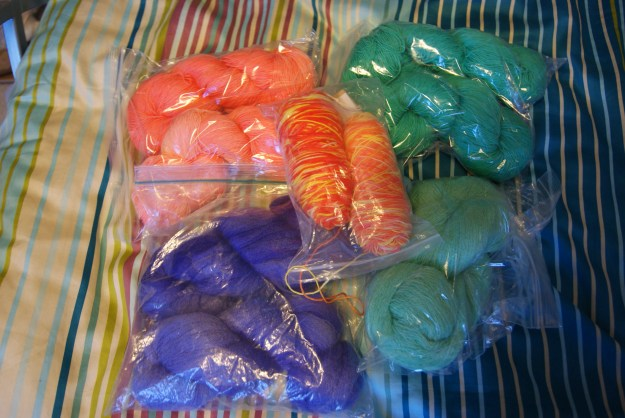 Handdyed stash January 2016