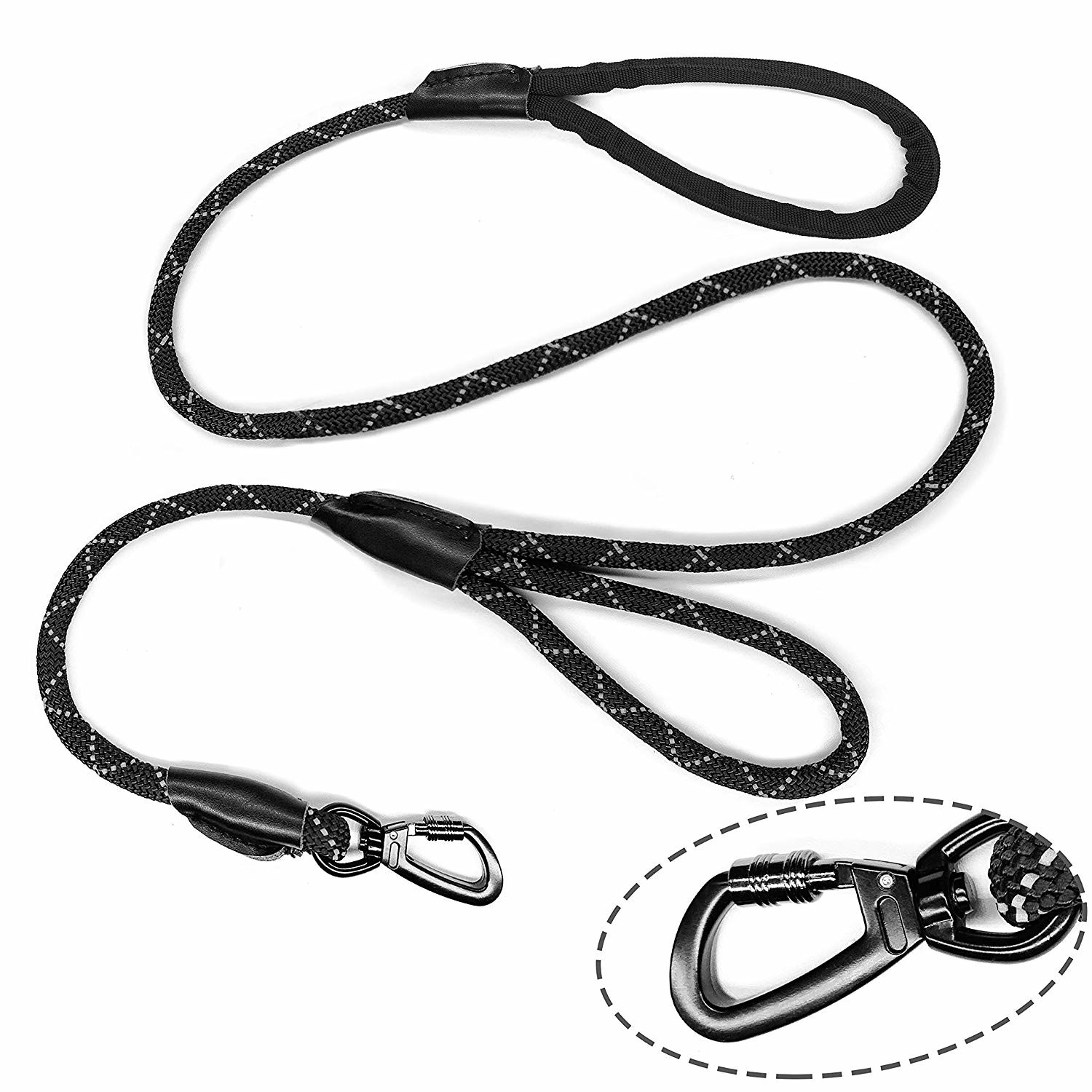 Traffic Handle Dog Harness Leash No Slip Sturdy Skin