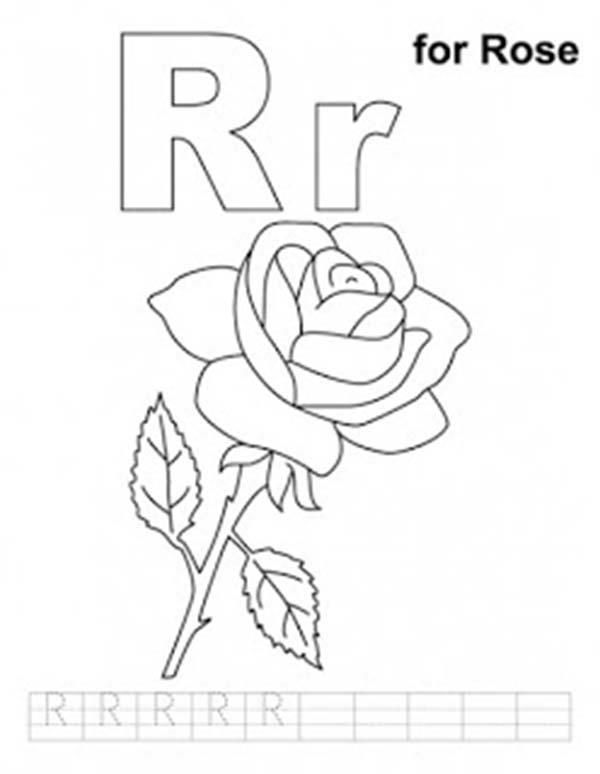 letter r coloring page # 55