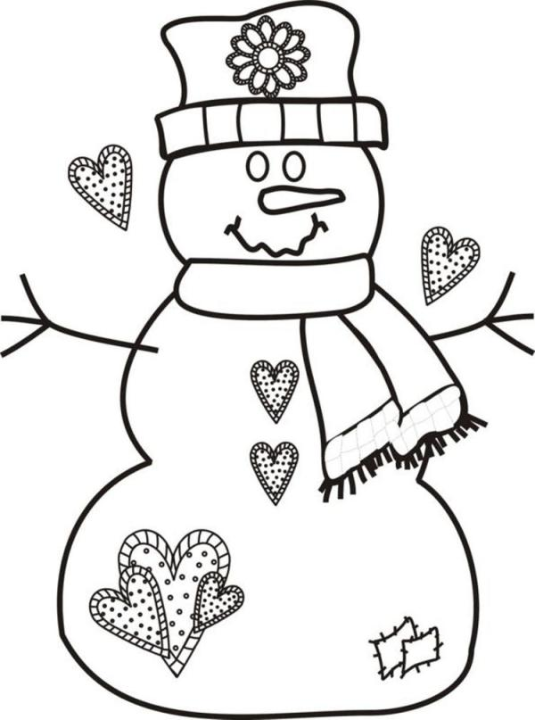 preschool christmas coloring pages # 59
