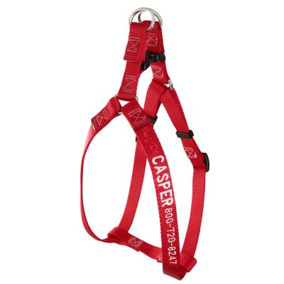 embroidered-nylon-dog-harness-red