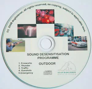 Desensitisation disc for adults and puppies