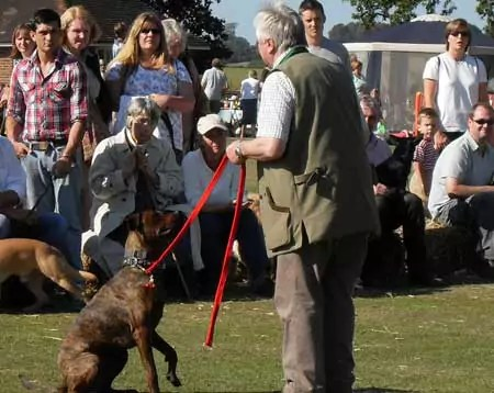 Stan Rawlinson at guide dog show