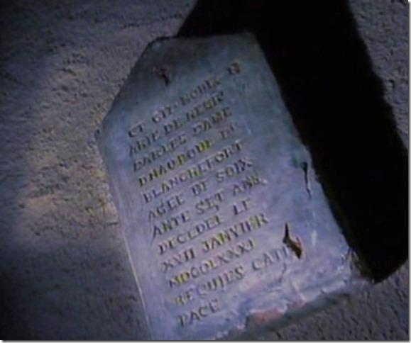 Lapida de la Tumba de la Marquesa de Opoul