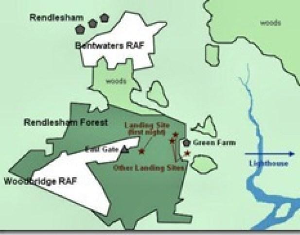 Mapa de la zona donde posiblemente llegaron los templarios