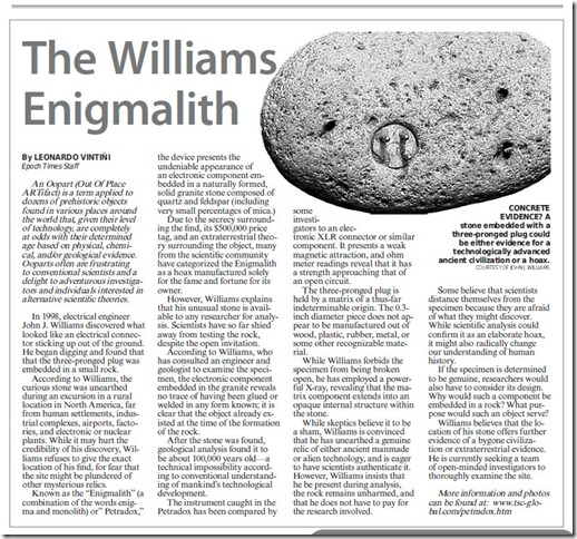 THE WILLIAMS ENIGMALITH