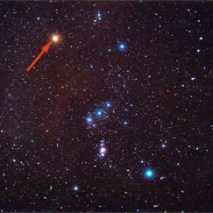Betelgeuse en la constelación de Orión