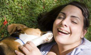 pet owners laugh