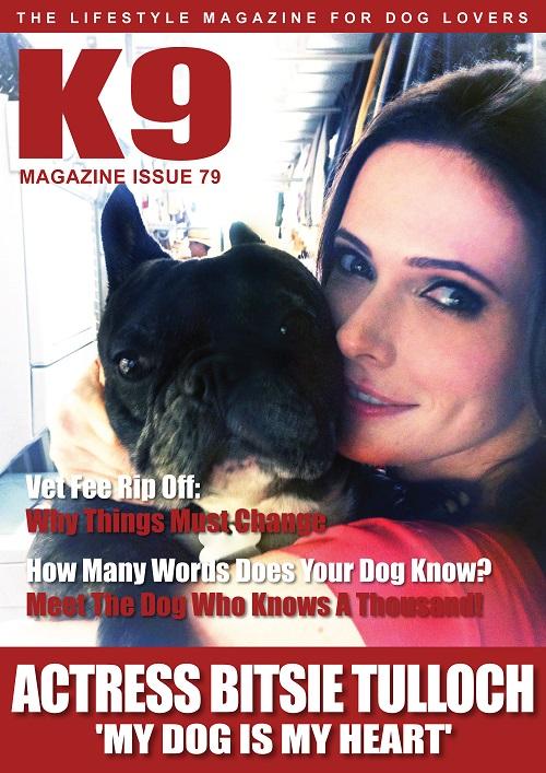 K9 Magazine Issue 79 Cover - Bitsie Tulloch (LR)
