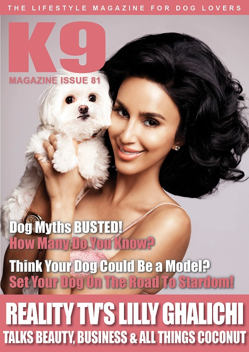 K9 Magazine Cover Issue 81 - Lilly Ghalichi & Coconut (LR)