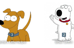 Santa's Little Helper v Brian Griffin - Who You Got? 2