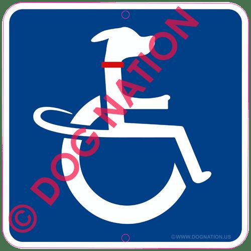 canine handicap sign