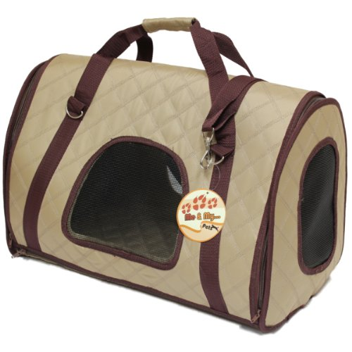 good sofa fabric for dogs 3 seater malaysia me & my beige quilted pet carrier pod