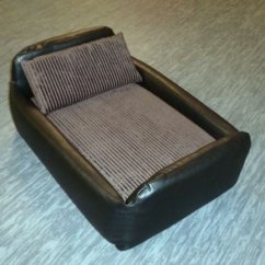 Sofa Waterproof Cover White Leather Spain Zippy Faux Divan Pet Dog Bed - Medium Black ...