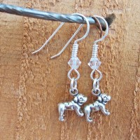 Bulldog Sterling Silver Earrings, Dog Park Publishing