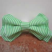Green and White Striped Bow Tie, Dog Park Publishing