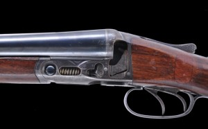 Fox Sterlingworth double barrel shotgun with a cutaway action