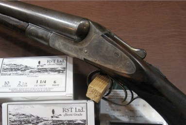 10 gauge L.C. Smith Grade 3 double barrel shotgun