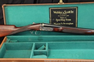 20 gauge Webley & Scott double barrel shotgun