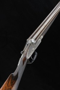 12 gauge E.M. Reilly double barrel shotgun at Gavin Gardiner's
