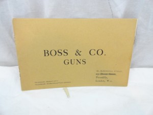 Boss & Co. Gunmaker's Catalog, circa 1930