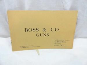 Boss & Co. Gunmaker's Catalog, circa 1930