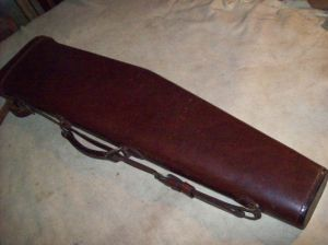 Red Head Leather Leg O'Mutton Shotgun Case