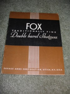 1939 A.H. Fox Double Barrel Shotgun Catalog