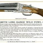 Catalog Description of L.C. Smith's Long Range Wildfowl Double Barrel Shotgun