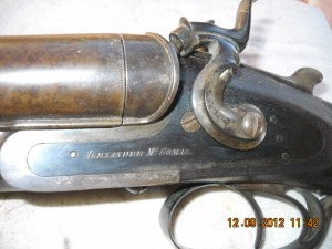 8 gauge Alexander McComas Toplever Double Barrel Shotgun