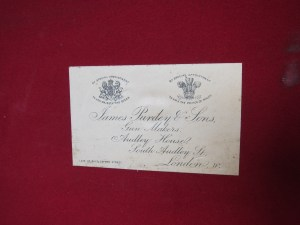 James Purdey & Sons case label, circa 1895