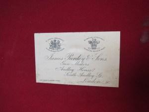James Purdey & Sons case label, circa 1895