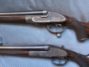 Side-by-side double rifles by James Purdey & Holland & Holland