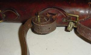 H.H. Heiser Leather Leg O'Mutton Double Barrel Shotgun Case