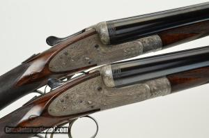 Alex Marin, Pair. 12 gauge Double Barrel Shotguns